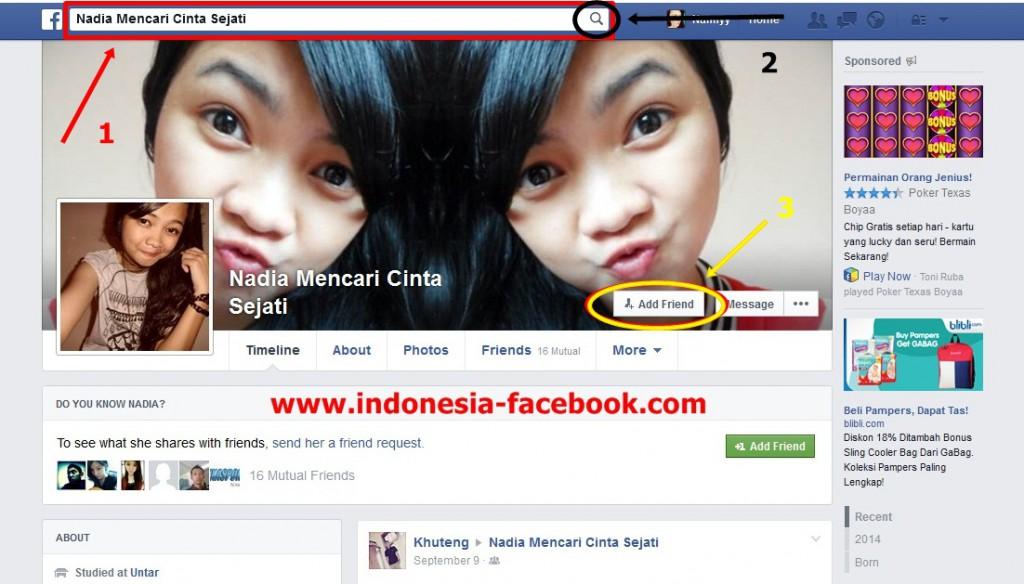 Cara Mudah Menambah Teman di Facebook