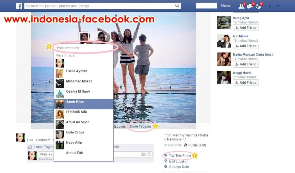 Tips dan Trik Mudah Tag Foto Di Facebook