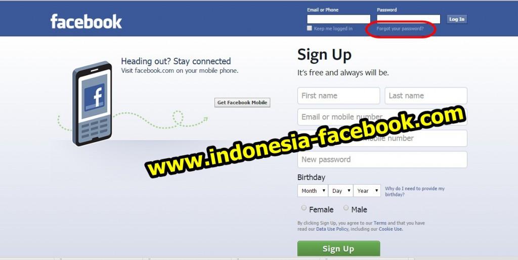Cara Membuka Facebook Yang Lupa Kata Sandi Dengan Mudah