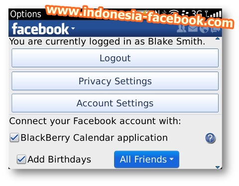 Serunya Facebook Dengan Aplikasi Blackberry