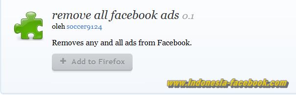 Add On Mozilla iklan facebook