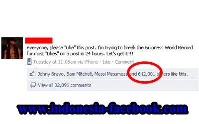 Tips Agar Status Facebook Banyak Di Like