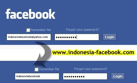 Cara Gampang Login Facebook Dengan Username