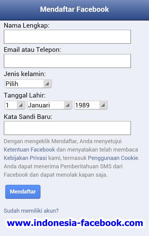 Yuk Intip Cara Facebook Sign Up Lewat Android