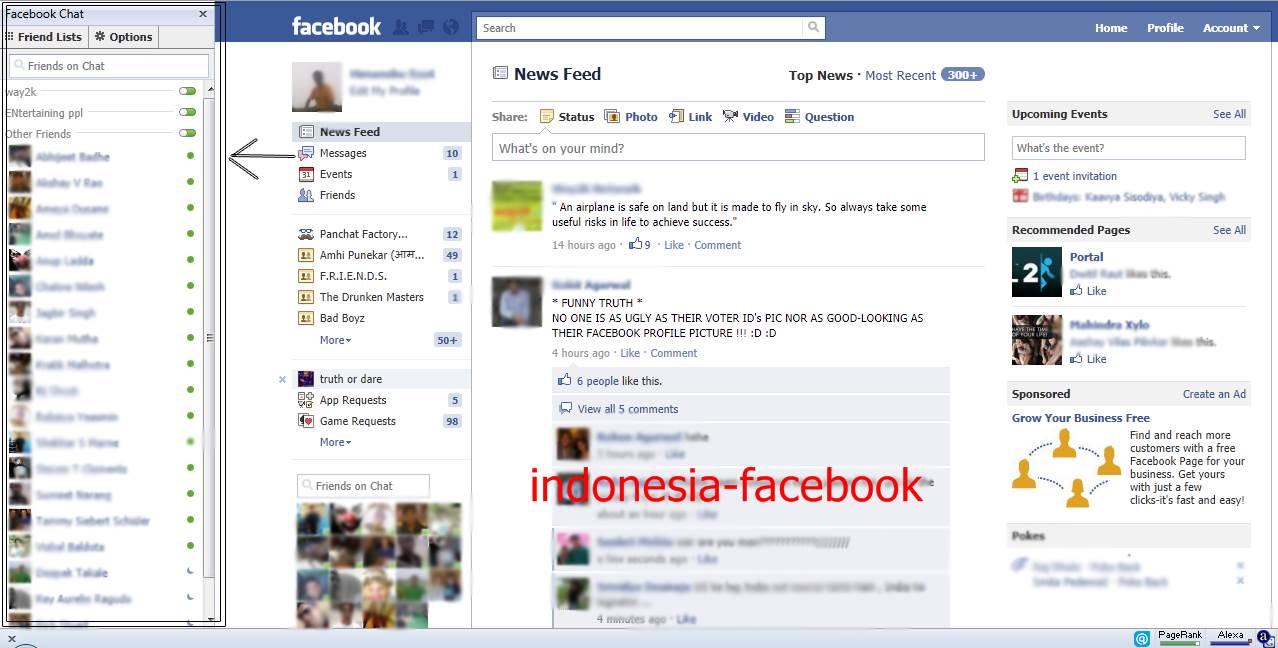 Cara Memindahkan Facebook Chat Ke Sisi Kiri