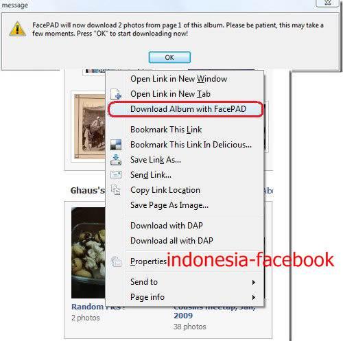 Trik Untuk Mendownload Koleksi Album Di Facebook