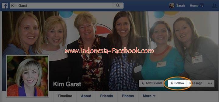 Cara Mengikuti Status Orang Lain Di Facebook Tanpa Berteman