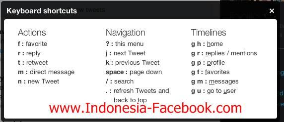 Shortcut Dalam Twitter Untuk Memudahkan Navigasi