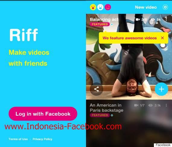 Facebook Gunakan Riff Sebagai Sarana Sharing Video Singkat