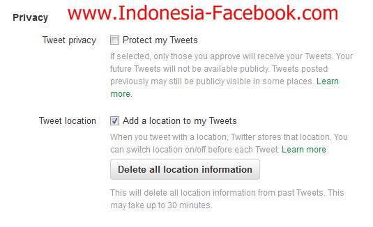 Trik Untuk Menyembunyikan Lokasi Anda Di Twitter