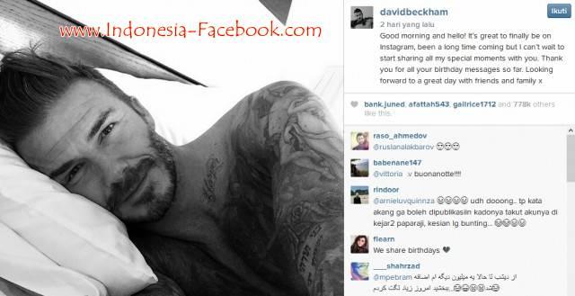 Instagram David Beckham Langsung Dibanjiri Oleh 4 Juta Followers