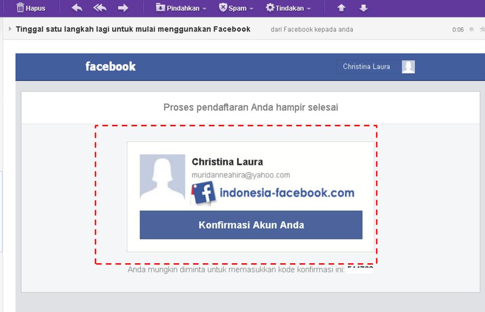Akun Facebook Yang Baru