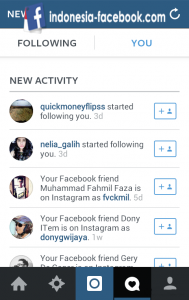 Following Instagram