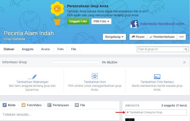 Hasil Jadi Grup Facebook