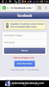 Masuk Ke Halaman Facebook