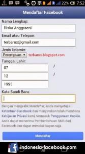 Mengisi Form Pendaftaran