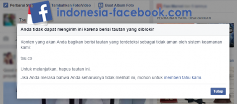 Media Sosial Tsu Yang Diblokir Facebook