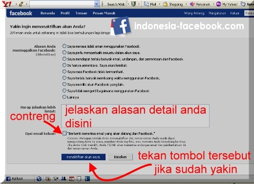 Tips Menghapus Akun Facebook
