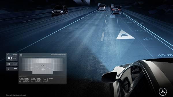 Teknologi Terbaru Mercedes-Benz, Lampunya Bisa Berkata-kata